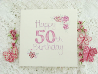Adornment - Card - 50th Birthday